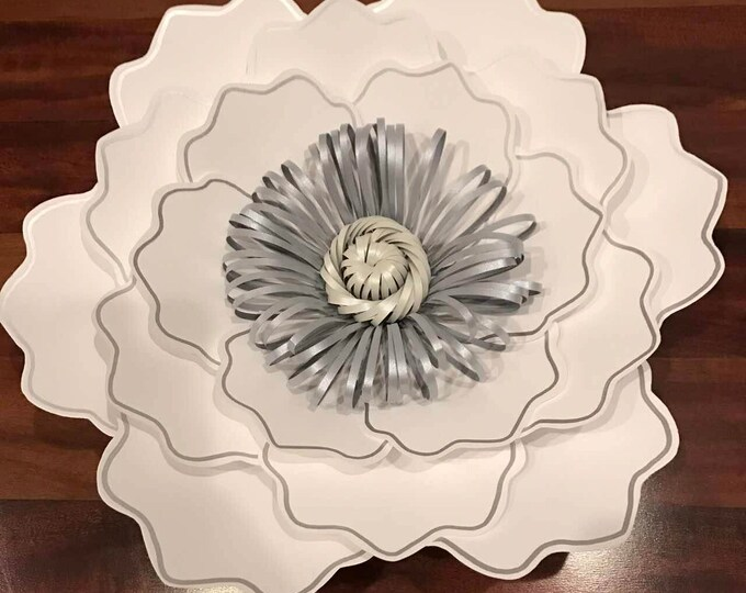 Paper Flowers -PDF Petal #35 Paper Flower Template with base, DIGITAL - Original Design by Annie Rose