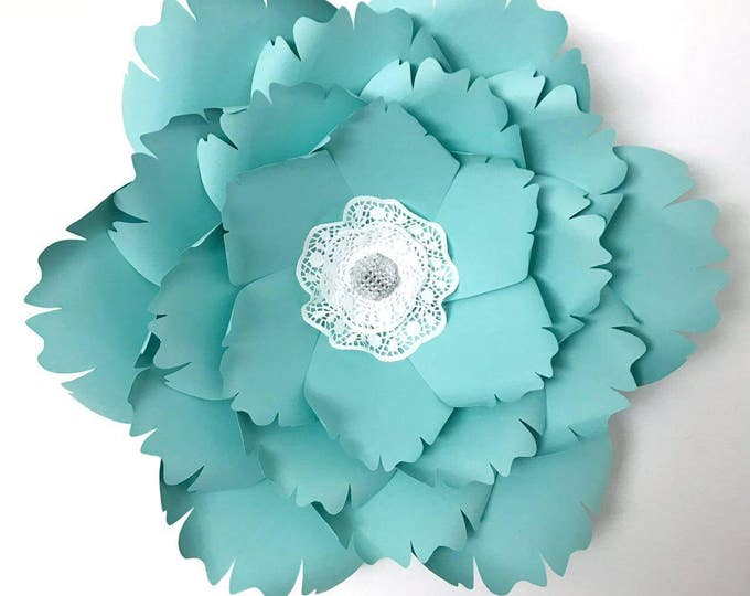 Paper Flowers -PDF Paper Flower template, Digital Version, Now Including The Base - #38