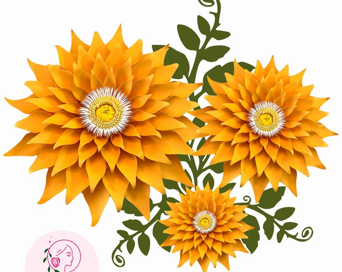 Paper Flowers -Paper Flowers - PDF Petal 89 Template- Trace and Cut Files DIY Giant Paper Flower Project (Not for Cutting Machines)