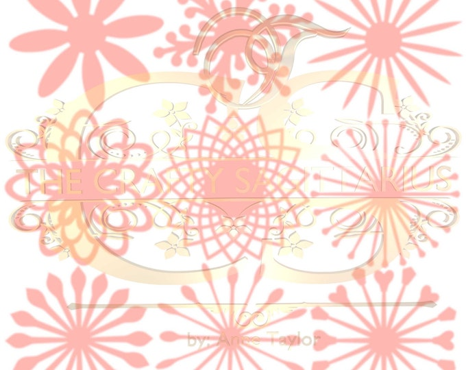 SVG Set 9 -9 different Flat Center for Paper Flowers- MACHINE use Only (Cricut and Silhouette) DIY and Handmade Giant Paper Flower Templates