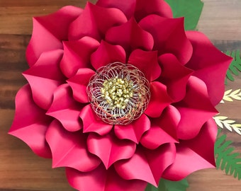 Paper flowers etsy pdf petal 3 giant paper flower templates 3d and diy paper flower for wedding and event decor diy 15 16 trace and cut files handmade decor mightylinksfo