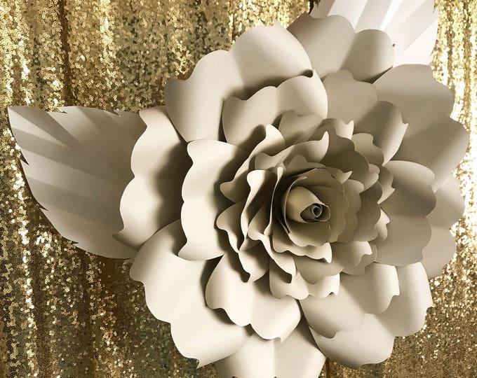 Paper Flowers -PDF PETAL #18 Paper Flower template, Digital Version, The Exotic Rose - Original Design by Annie Rose