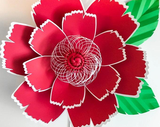 Paper Flowers -SVG Petal #131 Paper Flower template, Digital Version, Original  by Annie Rose, Cricut and Silhouette Ready