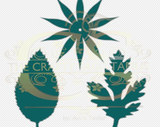 Svg PNG Dxf Components for Tiny Paper Flowers on a Stem MACHINE use Only Cricut and Silhouette DIY and Handmade Leaves Templates