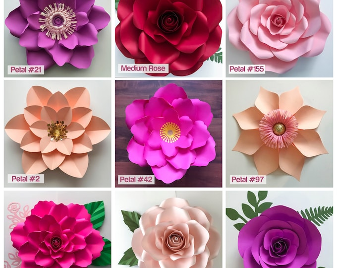 PDF TCS Business Kit COMPLETE Paper Flowers Wall Template Set Printable Trace & Cut My To Go Paper Flower Designs for easy Backdrop Project