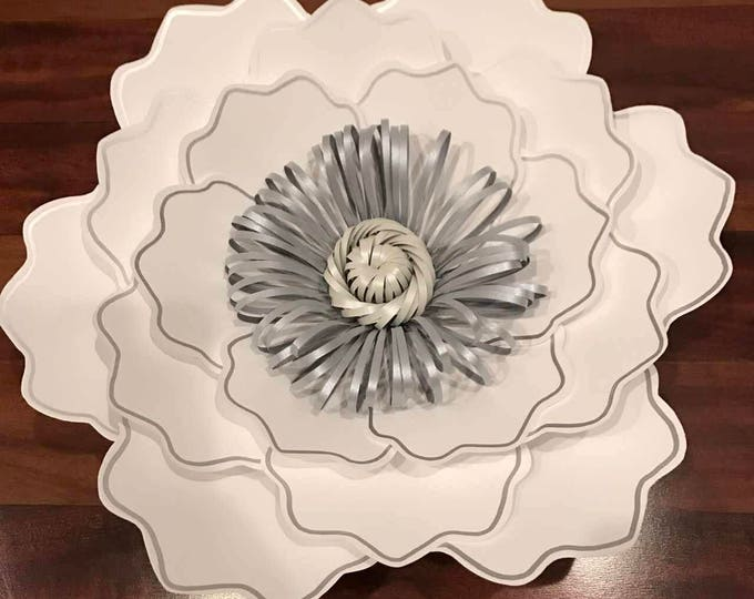 Paper Flowers -SVG Petal #35 Paper Flower Template with base, DIGITAL - Design by Annie Rose - Cricut and Silhouette Ready #35