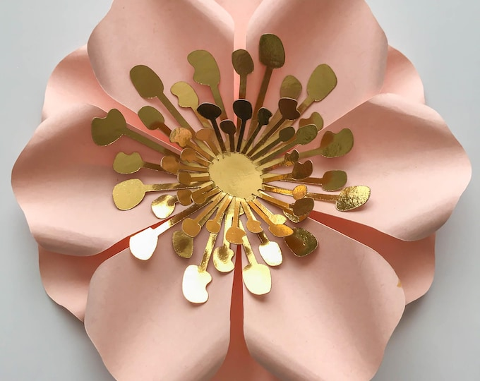 "PDF 2 5.25"" Filler Flowers - Trace and Cut File for DIY Giant Paper Flower-Ideal ti fill in small Gaps in your Paper Flower Arrangement"