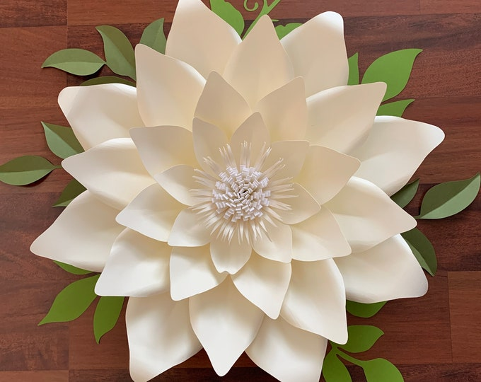 PDF Petal 174 Paper Flowers Template- Trace and Cut Files DIY Giant Paper Flower Project (Not for Cutting Machines)