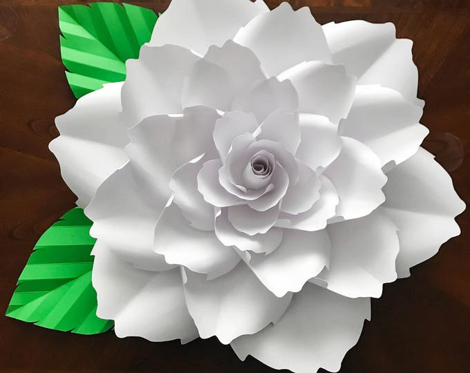 SVG Petal 140 Paper Flowers Template w/ Flat Center for Cricut Silhouette Machines for DIY Giant Paper Flowers for Wedding & Event Backdrop