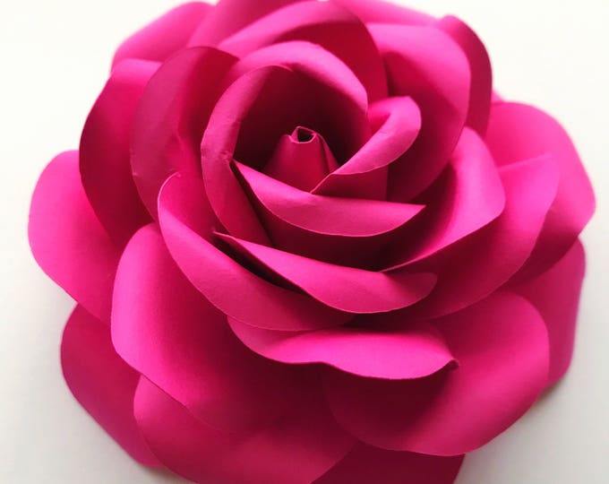 """PDF Tiny Rose #4 Paper Flower - 6 Different sizes -Trace and Cut Stencil: 2.25"""" - 8"""" inches Original From The Crafty Sagittarius"""