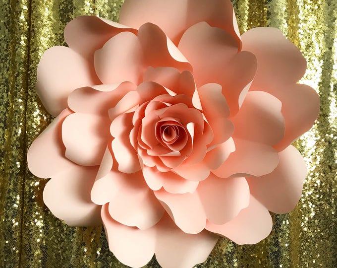 Paper Flowers -PDF Petal #79 Wild Rose Paper Flower Template DIGITAL Version - Original Design by Annie Rose