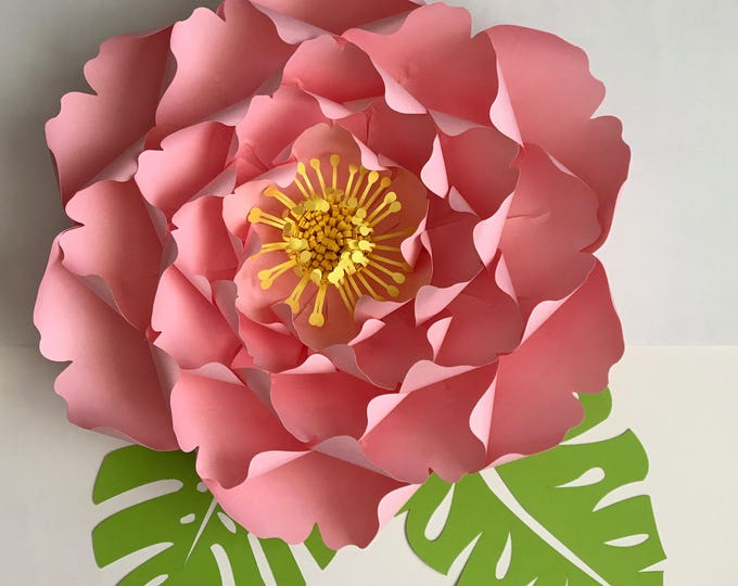 Paper Flowers -SVG Files Petal #128 Giant Peony - Cutting Machine Ready-Original and Made by The Crafty Sagittarius