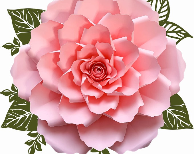 PDF PAPER FLOWERS Petal 99 Template, with Rose Bud, Make Unlimited Diy Multiple Size Giant Flowers, Printable Instant Download Digital Files