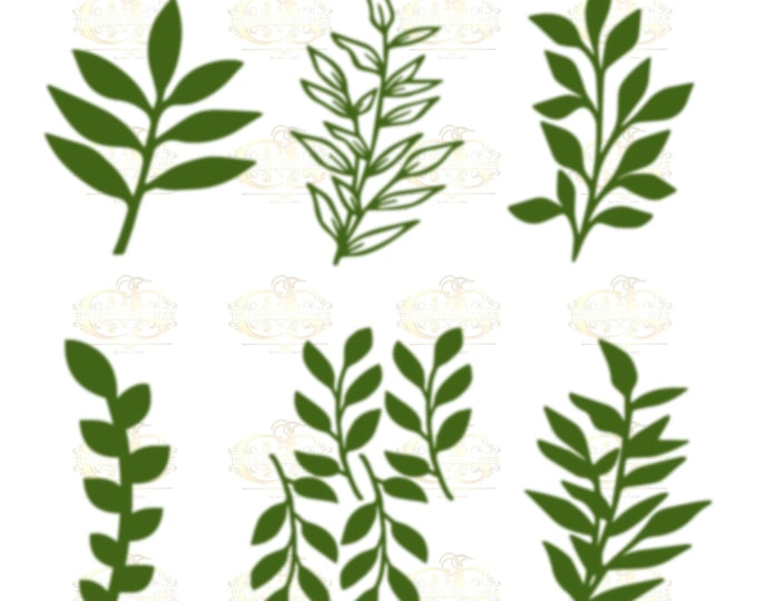 Set 34 Svg Png Dxf 6 different Leaves for Giant Paper Flowers MACHINE use Only Cricut and Silhouette DIY and Handmade Leaves Templates