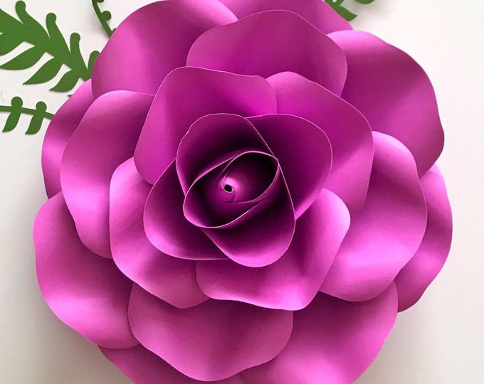 Paper Flowers -PDF Small Rose Petal Template, Digital Version -  7 to 9 Inches Diameter