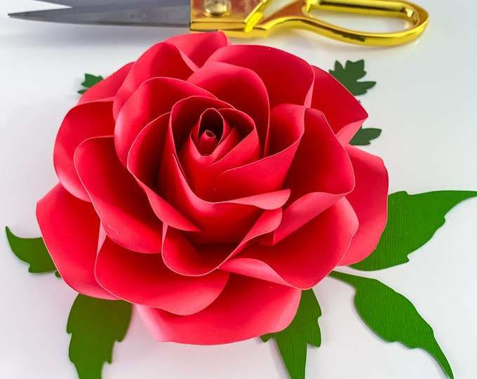 SVG PNG DXF Tiny Rose 7 Cut Files Cutting Machine No resizing needed comes in 6 petal sizes 3-8 inches Rose Petal for bouquet or small decor