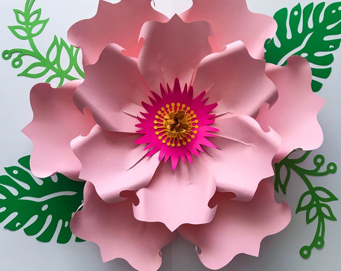 Paper Flowers -SVG Petal #71 Paper Flower Petal Template DIGITAL Version - The Exotic Hibiscus  - Cricut and Silhouette Ready