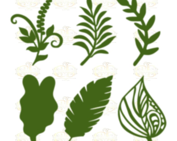Set 4 Svg PNG Dxf 6 different Leaves for Paper Flowers- MACHINE use Only Cricut and Silhouette DIY and Handmade Leaves Templates