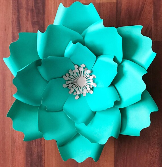 Paper Flowers PDF Petal 7 Paper Flower Template with Base   Etsy