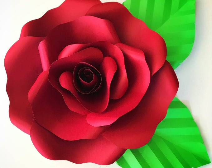 Paper Flowers -SVG File for Open Rose 2