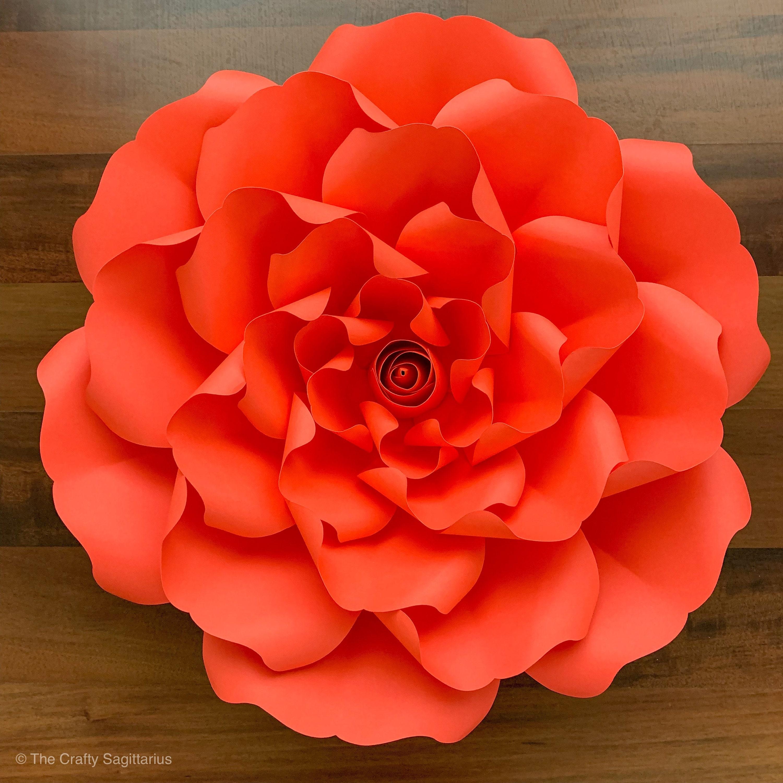 svg dxf petal 127 paper flowers template cricut silhouette