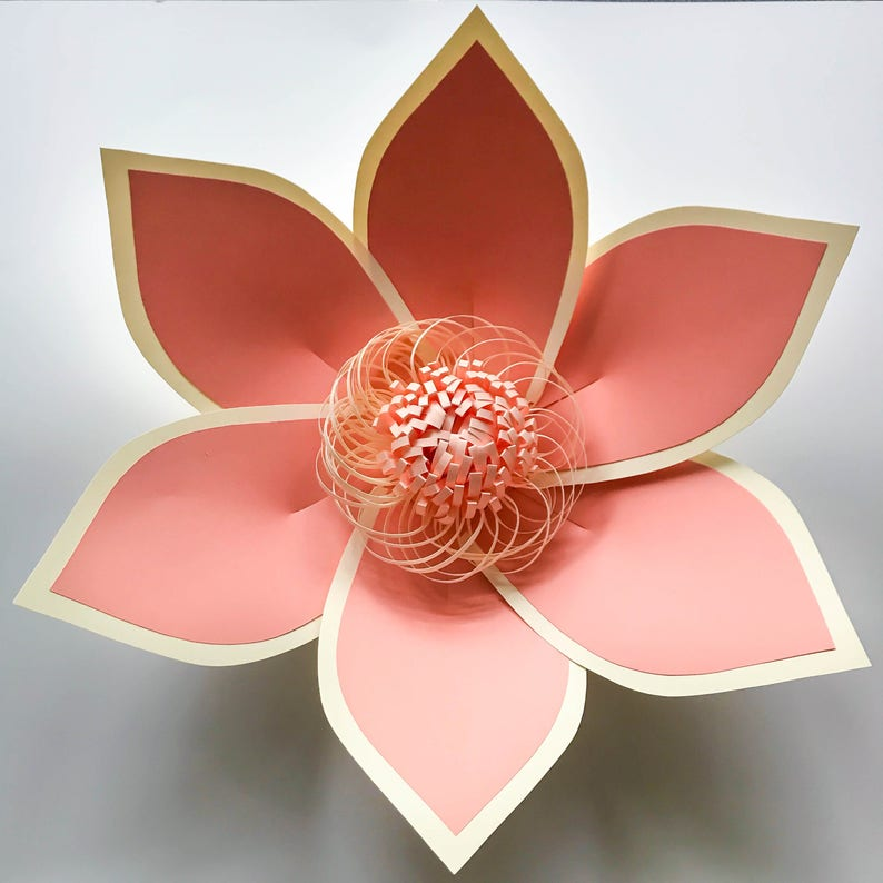 DIGITAL Version Trace and Cut File for DIY Giant Paper Flower Paper Flowers PDF Petal #97 Paper Flower Template with Base