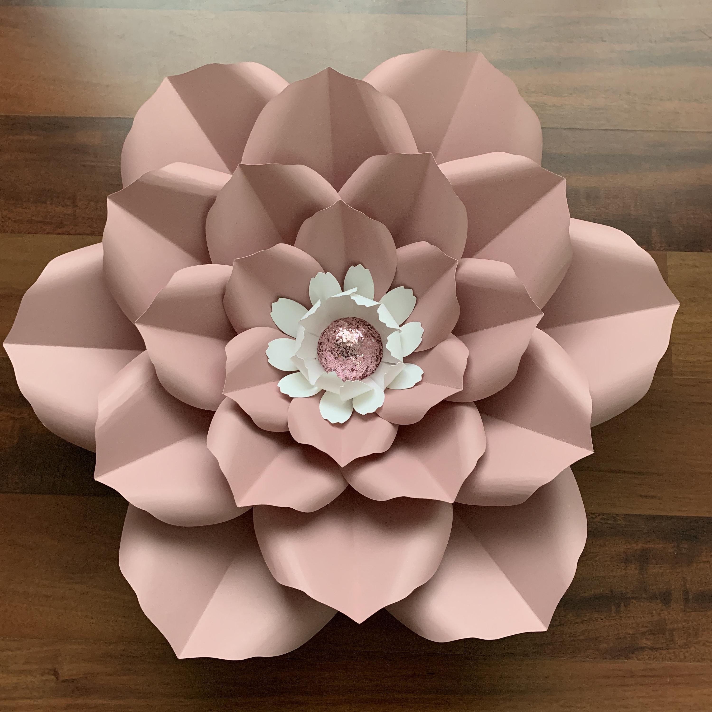petal 17 pdf printable giant diy paper flower templates wedding decor events birthdays flat