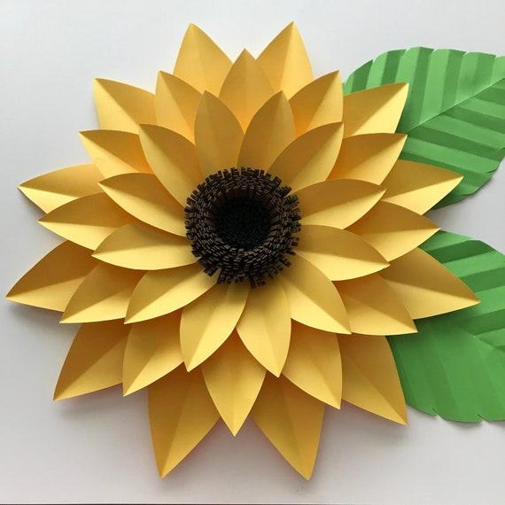 Svg Dxf Png Petal 44 Sunflower Paper Flower Template Diy Etsy