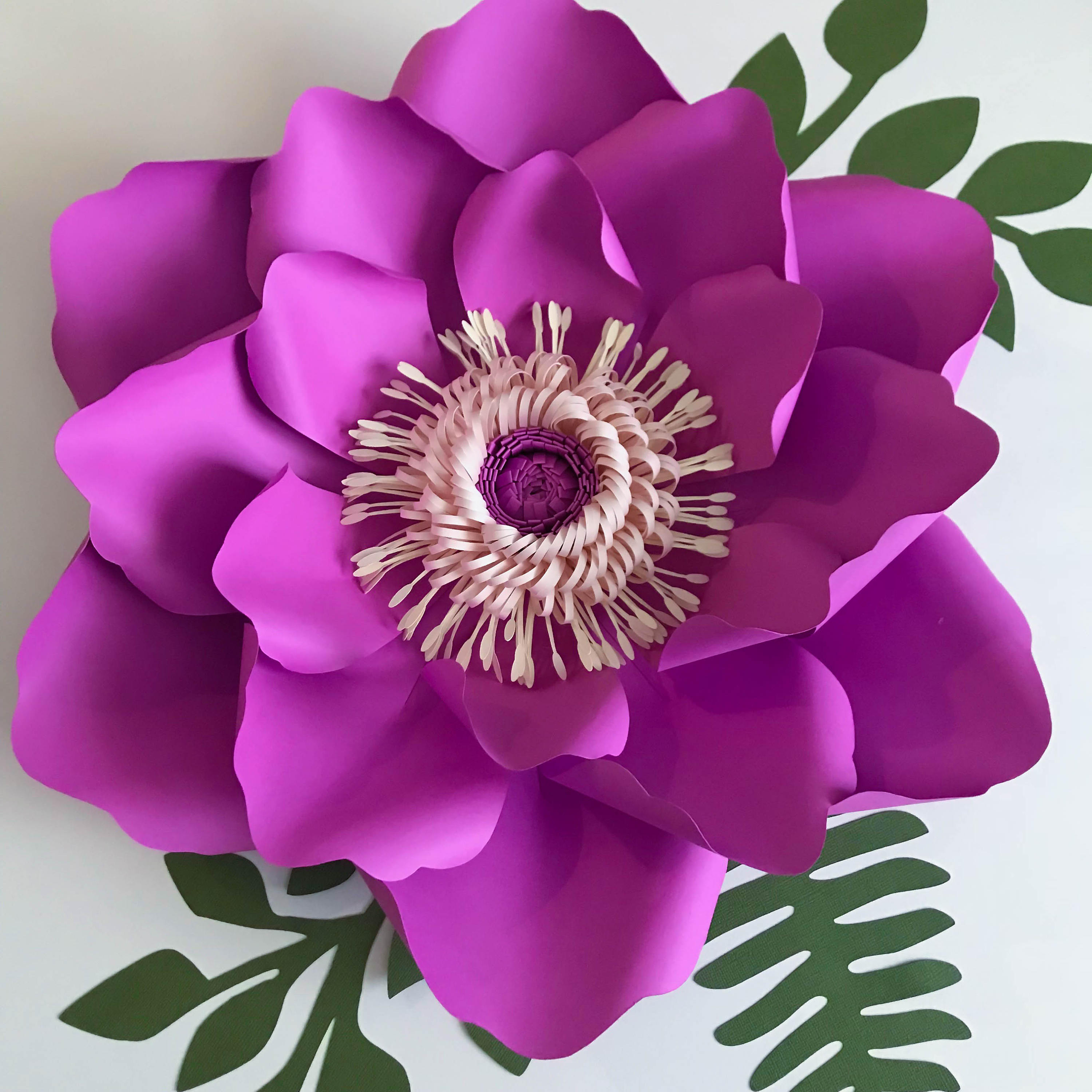 pdf petal  21 paper flowers updated template to create 6 different paper flower sizes 5 sizes