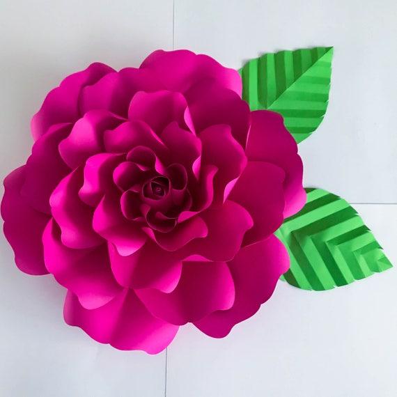 Paper Flowers Paper Flowers PDF Petal 127 Flower Template Etsy