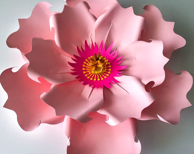 Paper Flowers -PDF Petal #71 Paper Flower Template DIGITAL Version - The Exotic Hibiscus  - Cricut and Silhouette Ready