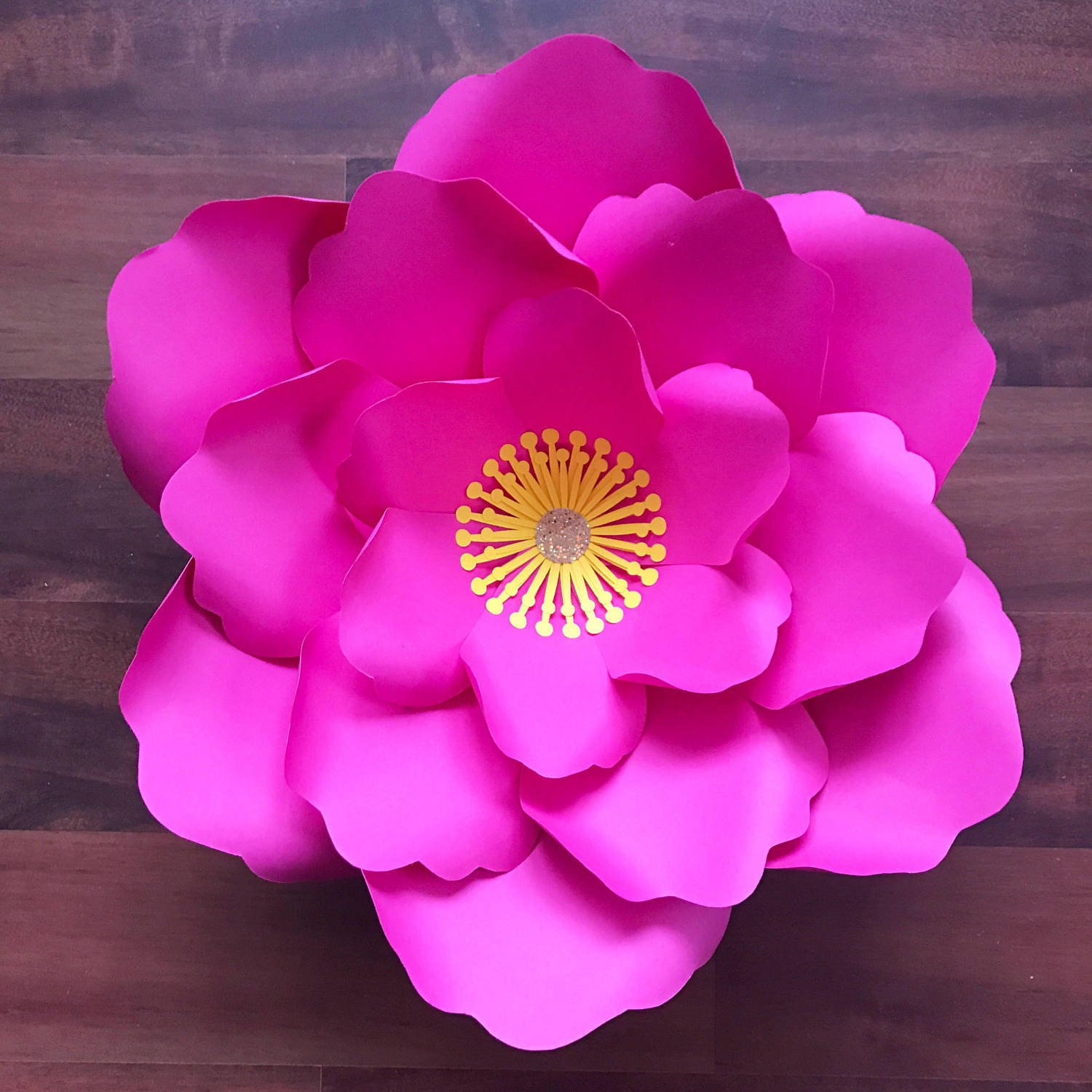 svg png dxf petal 21 paper flowers template 6 sizes base 5 sizes flat center digital file for