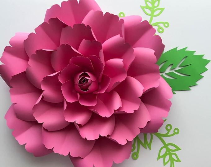 Paper Flowers -PDF Petal #137 Paper Flower template with Center, Digital Version, Original  by Annie Rose