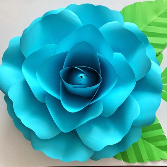 paper flowers pdf large rose petal template digital version etsy