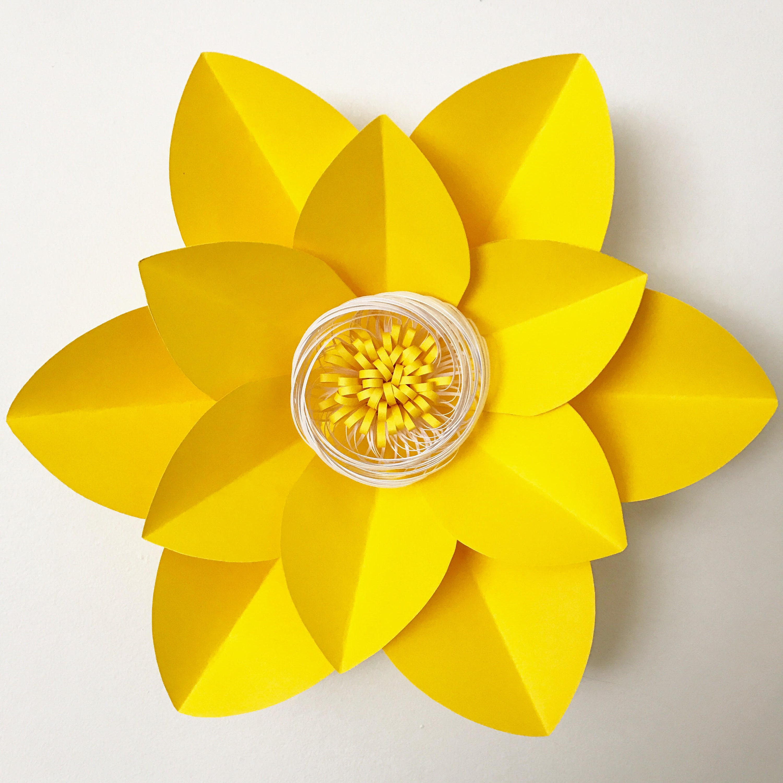 pdf petal 2 printable paper flowers template base flat center 3d paper flowers printable trace