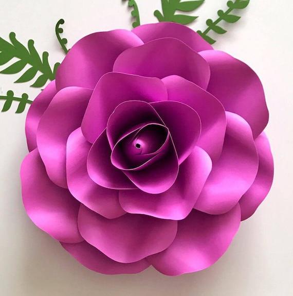 paper flowers svg small rose petal template digital version