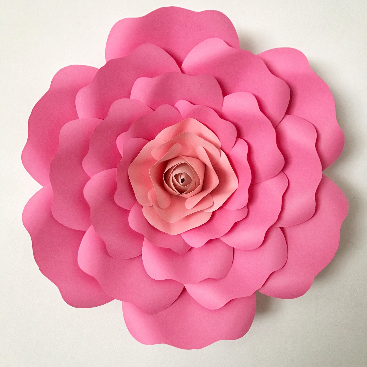 Paper Flowers Pdf Petal 36 Paper Flower Template With Base Etsy