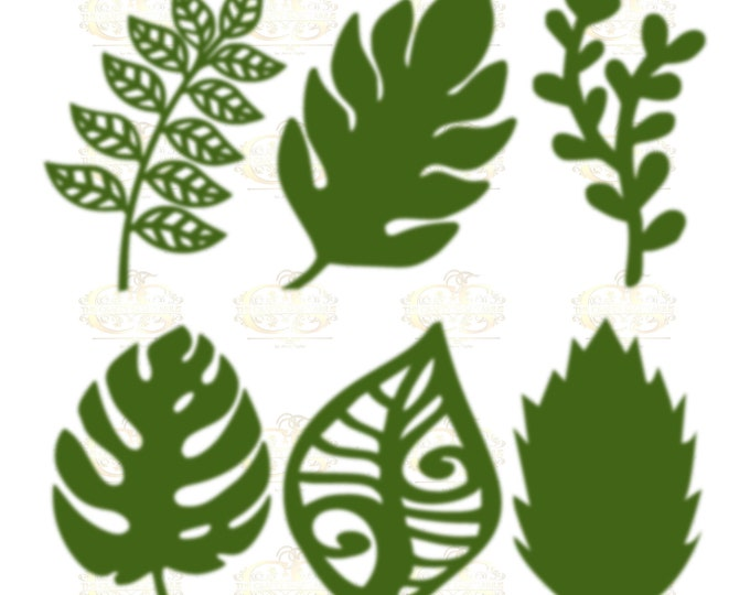 Set 8 Svg/PNG 6 different Leaves for Paper Flowers- MACHINE use Only (Cricut and Silhouette) DIY and Handmade Leaves Templates