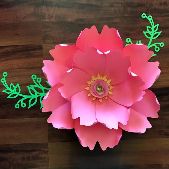 Paper Flowers PDF Petal 13 Paper Flower Template Digital Etsy