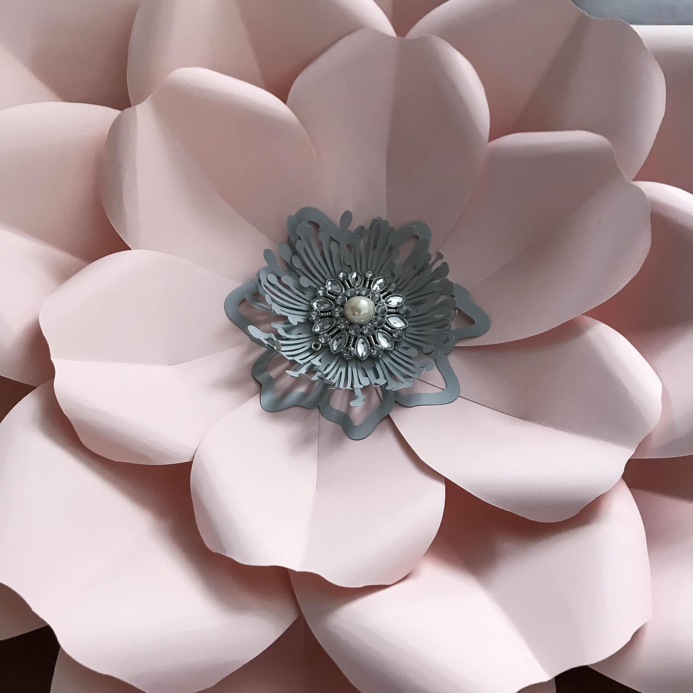 paper flowers -pdf petal  165 paper flower template with base  digital version