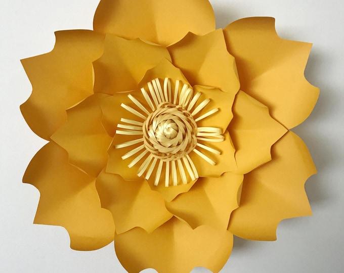 Paper Flowers -PDF PETAL #60 Paper Flower Template DIGITAL version - The Batman - Original Design by Annie Rose (with base)