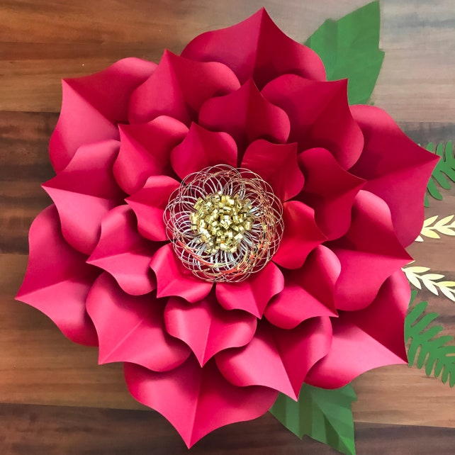 Pdf petal 3 giant paper flower templates 3d and diy paper etsy image 0 mightylinksfo