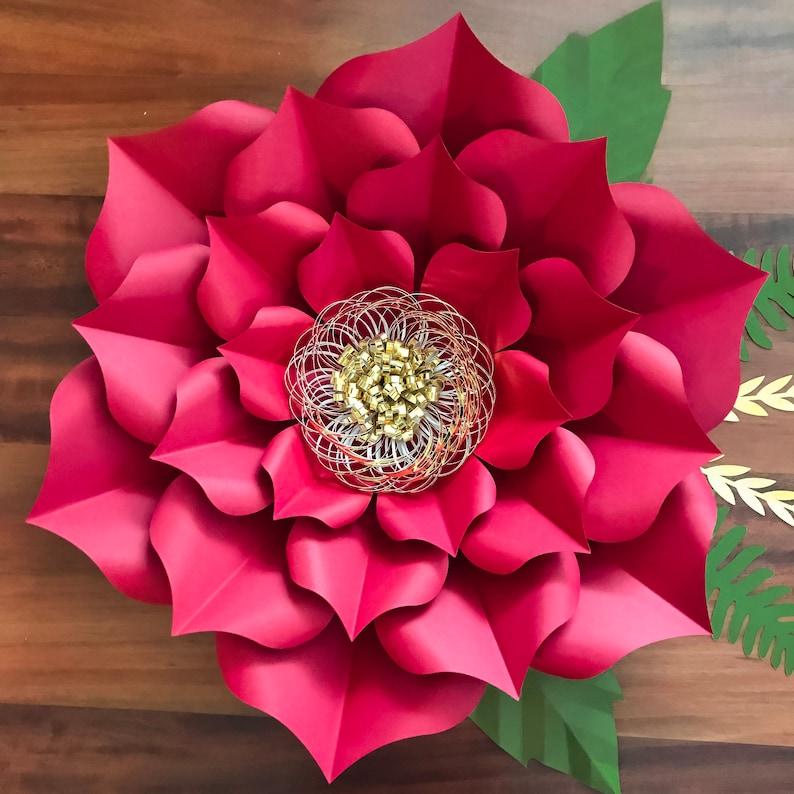 72415c20d PDF papel flores pétalo 3 plantillas 3d y bricolaje papel flor para boda y  evento decoración DIY 15-16