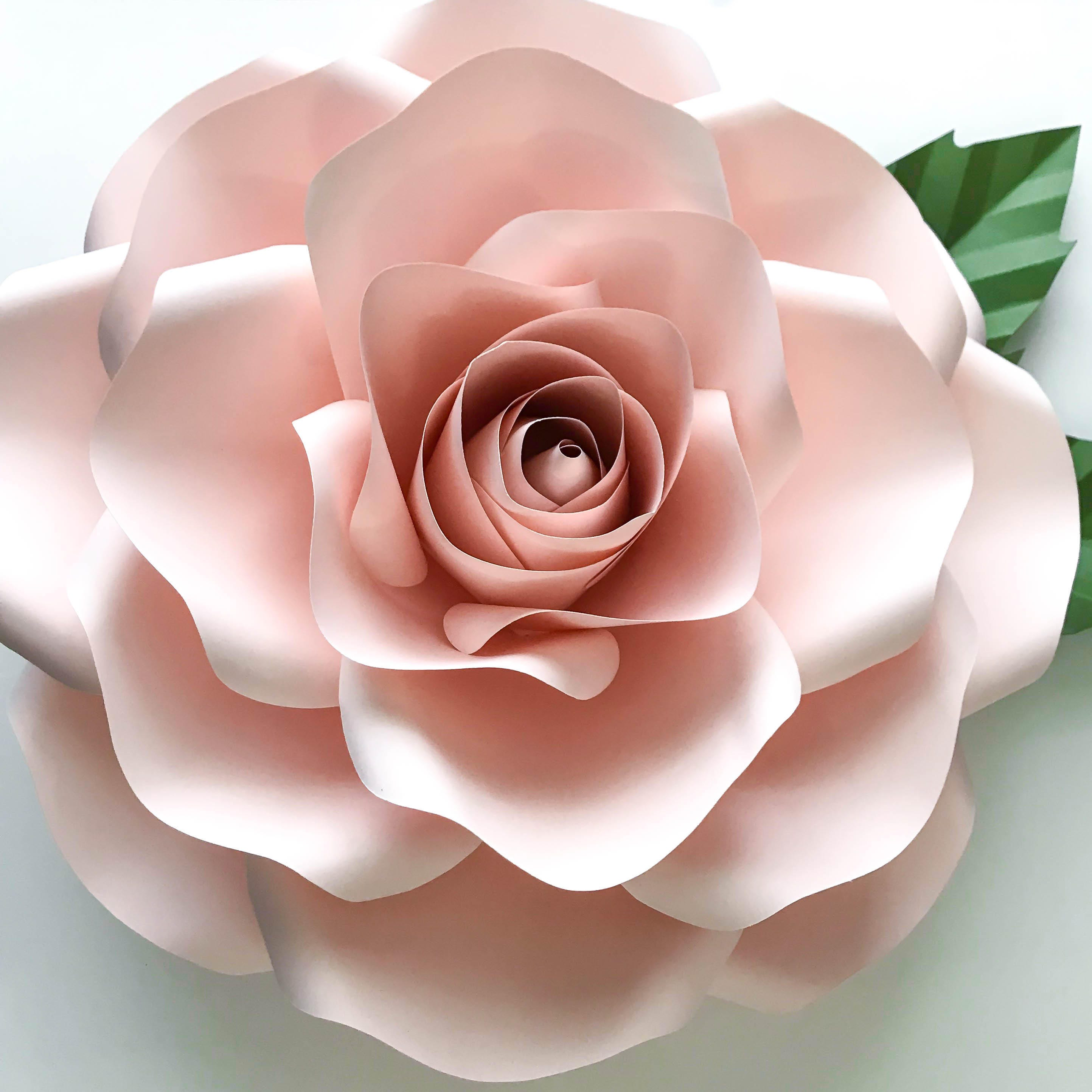Paper Flowers - PDF COMBO of Large and Medium Rose Paper ...