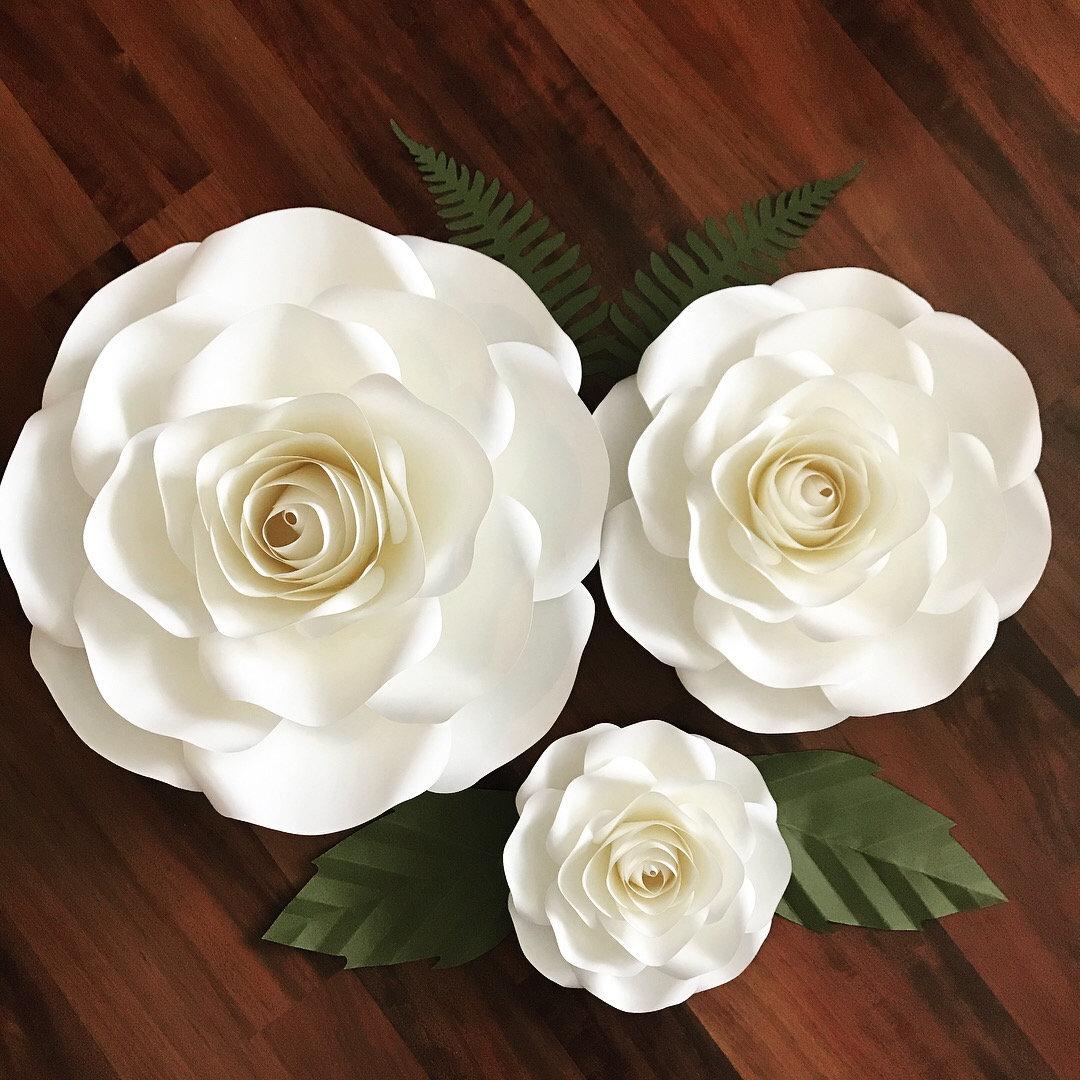 Svgdxf For Large Medium Small Rosespaper Flowerspaper Flower