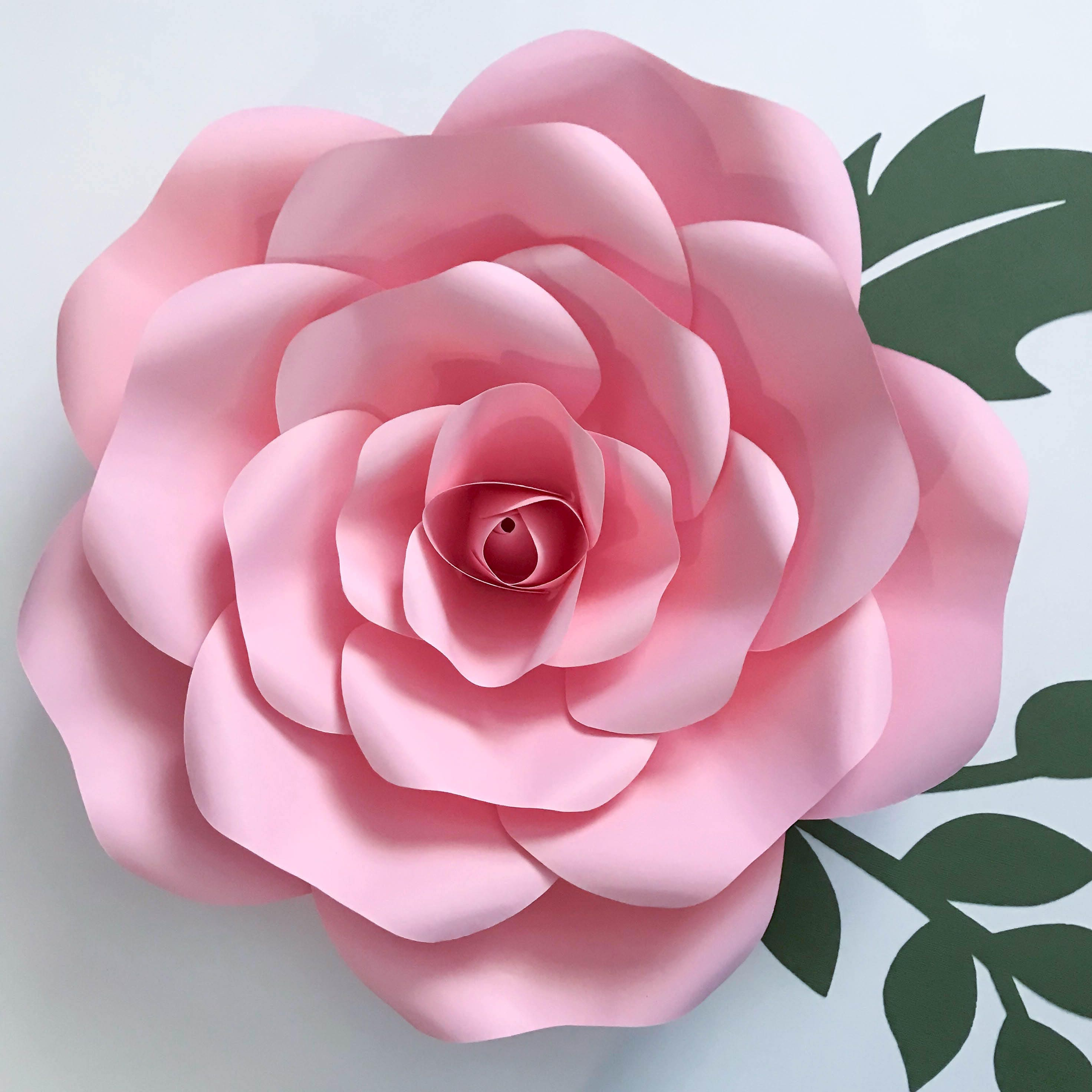 paper flowers pdf petal  155 exquisite rose flower template with base digital version original