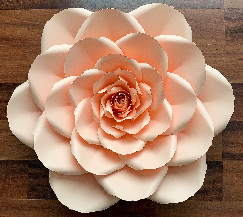 svg png dxf petal 24 20 rose giant paper flower templates w   rose bud  flat centers  u0026 bases diy