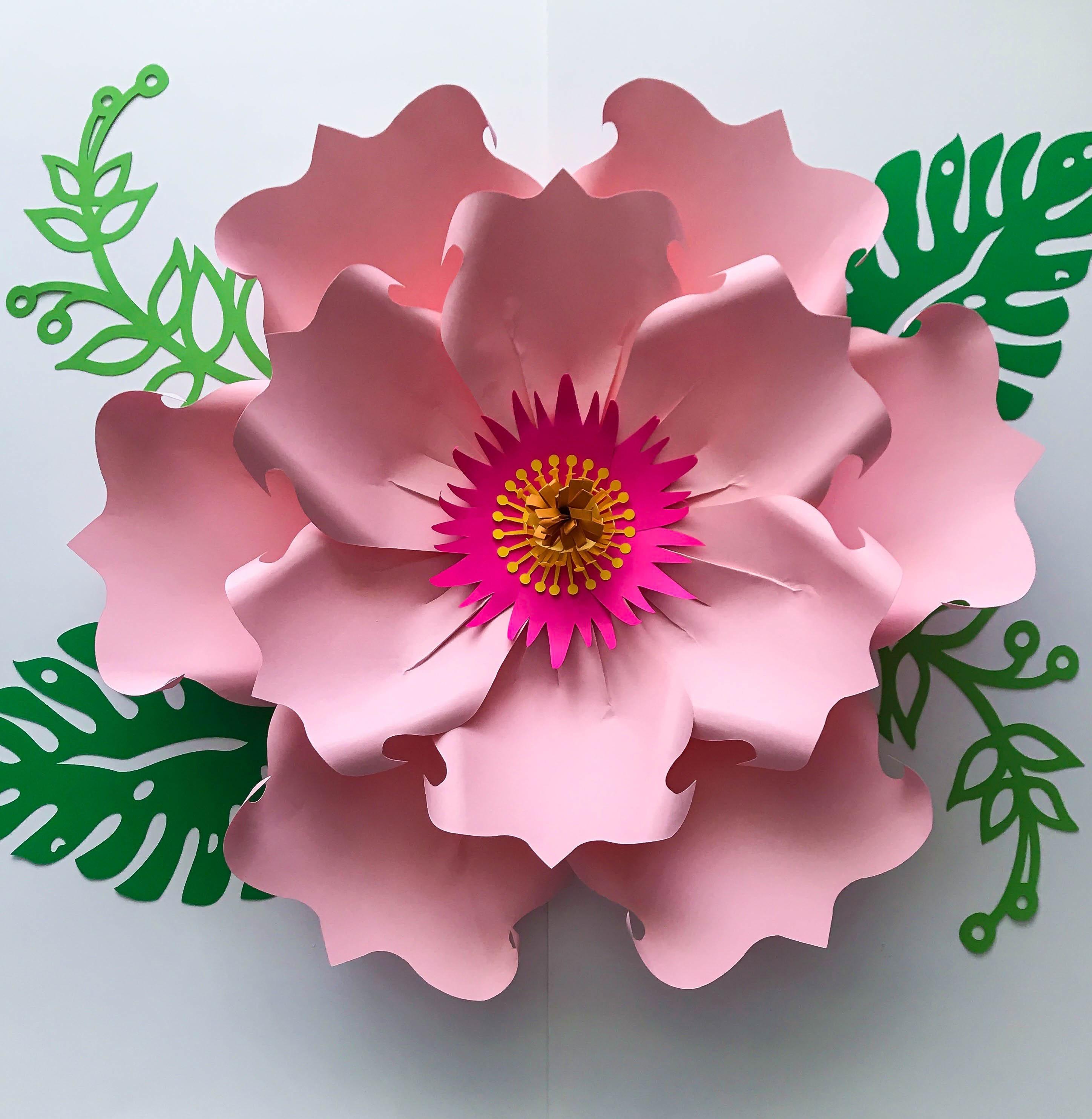 Paper Flowers Pdf Petal 71 Paper Flower Template Digital Etsy