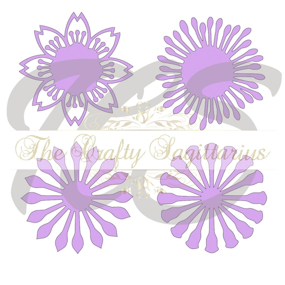 Svg set 7 4 different flat center for paper flowers machine etsy image 0 mightylinksfo