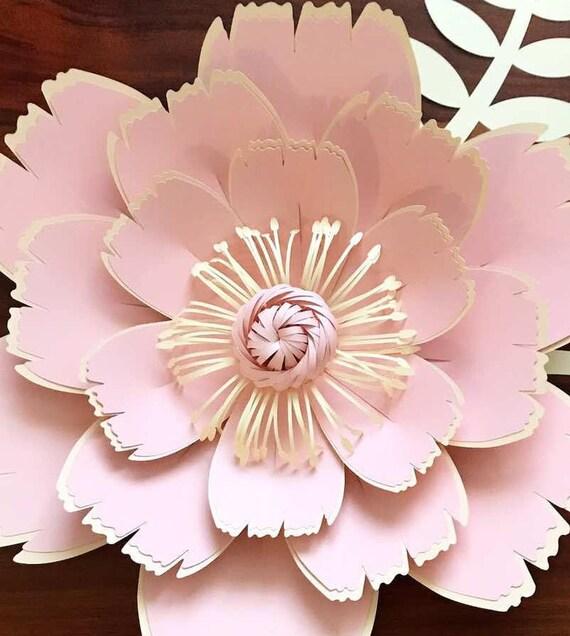 Paper flowers svg digital flower center spring charlie etsy image 0 mightylinksfo